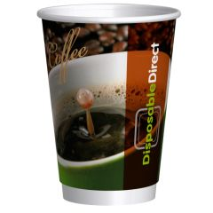Double Wall drinkbekers middel 300cc 12oz